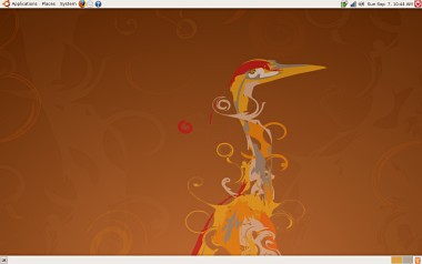 Ubuntu Hardy Heron (8.04) running on a Lenovo ThinkPad X200 with wireless!