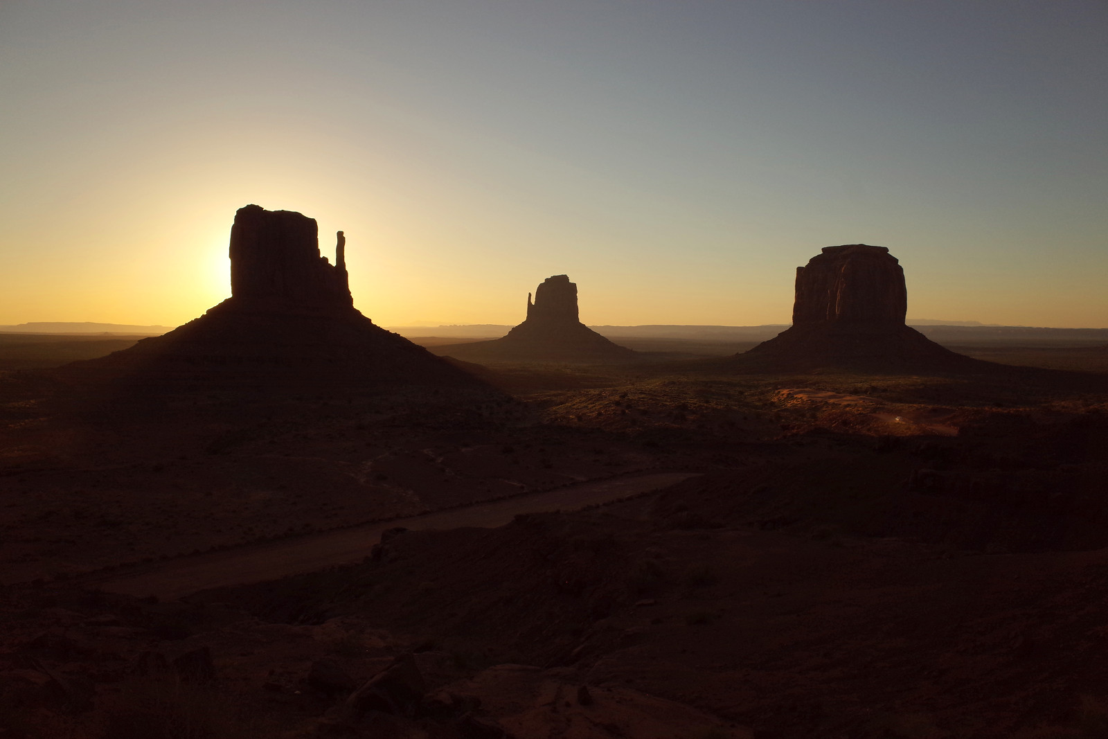 The Mittens of Monument Valley at sunrise