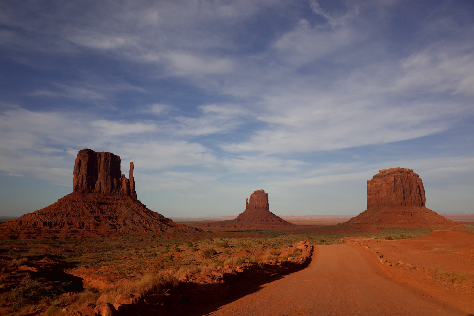 The Mittens of Monument Valley at sunset