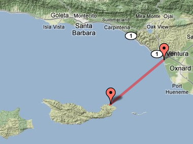 Santa Cruz Island Trail Map