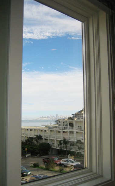 View from my new desk at Federated Media in Sausalito: San Francisco