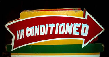 Volpi's air conditioned sign