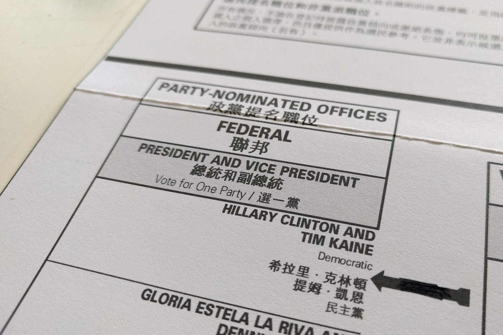 My 2016 vote for president: Hillary Clinton and Tim Kaine