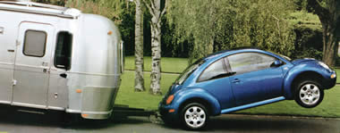 airstream and vw new beetle