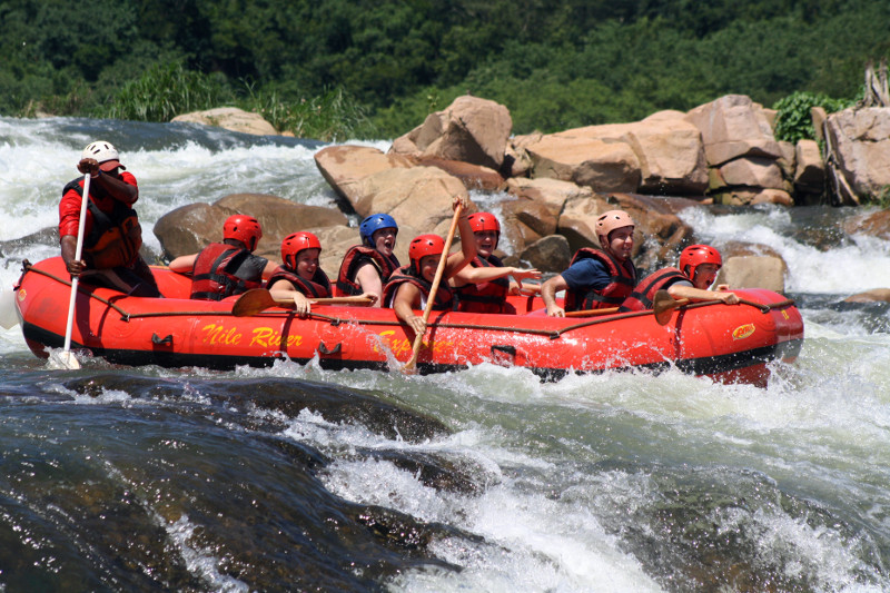white nile whitewater first rapid 3