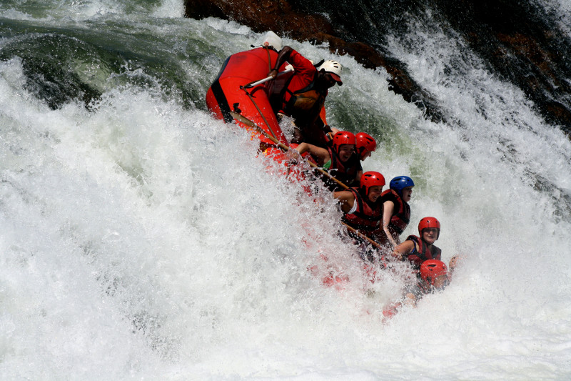 white nile whitewater first rapid 6