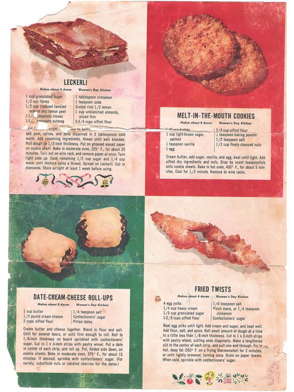 Chrissy's scan of Melt-in-the-Mouth cookies from Woman's Day from December 1953
