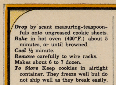 Melt-in-the-Mouth cookie recipe part 2 from the December 1964 issue of Woman's Day