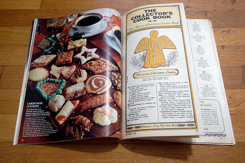 December 1964 issue of Woman's Day open to The Collector's Cook Book