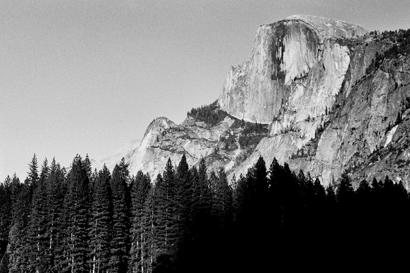 Half Dome at Yosemite National Park (black and white)