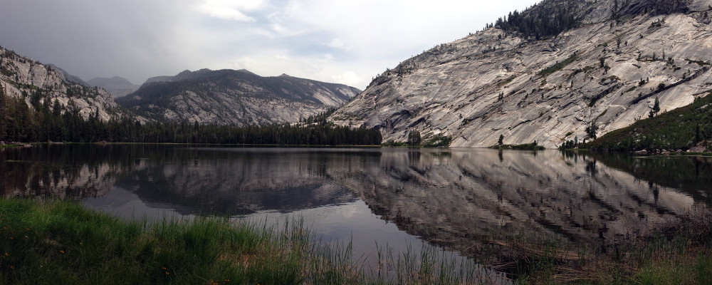 Panorama of Merced Lake in Yosemite National Park