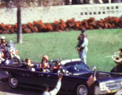 Marshmallow gun dude photoshopped into JFK assassination still