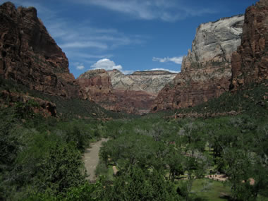 view of zion canyon